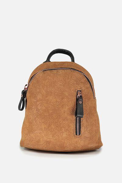 Santa Fe Backpack, MID TAN TOOLED