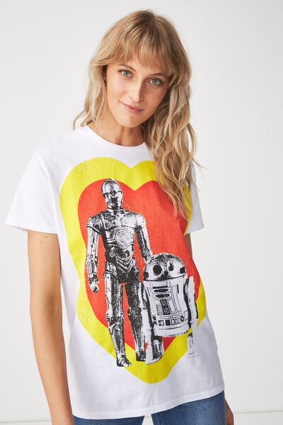 Womens Novelty Tshirt, LCN STAR WARS LOVE