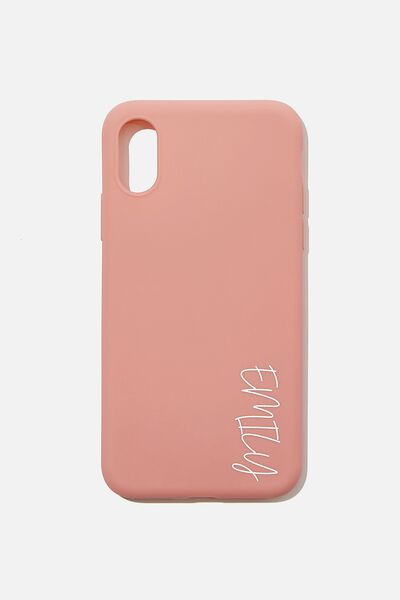 Personalised Slimline Recycled X/Xs Case, DUSTY ROSE