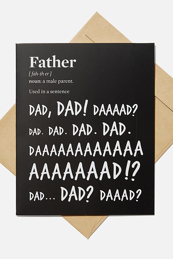 Fathers Day Card 2020, FATHER NOUN DEFINITION