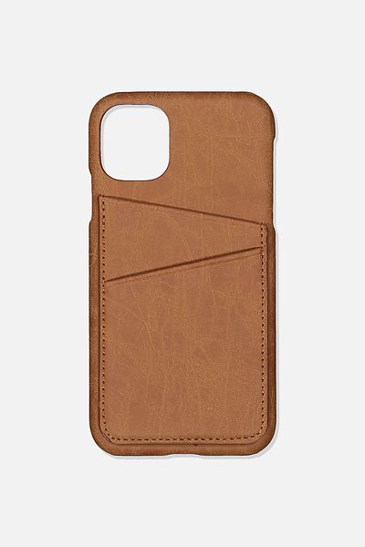 Cardholder Phone Cover Iphone 11, MID TAN