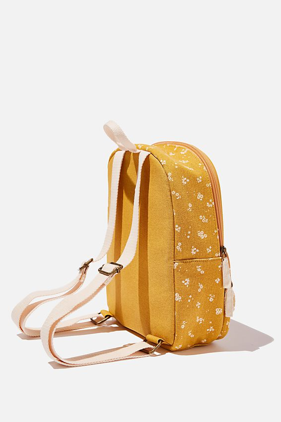 Nano Backpack, DOTTIE FLORAL MUSTARD