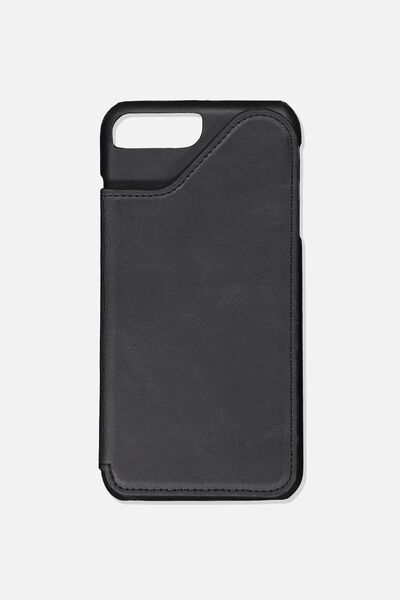 Cardholder Phone Case 6, 7, 8 Plus, BLACK