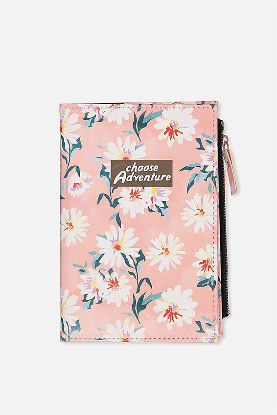 Travel Zip Journal, PINK DAISY