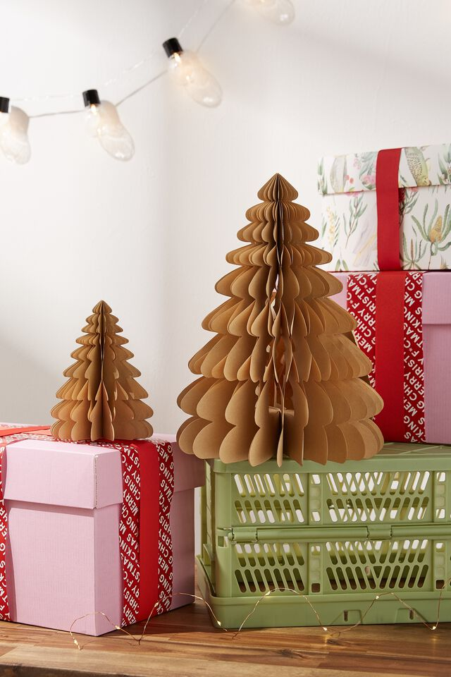 Paper Christmas Tree 2 Pack, KRAFT