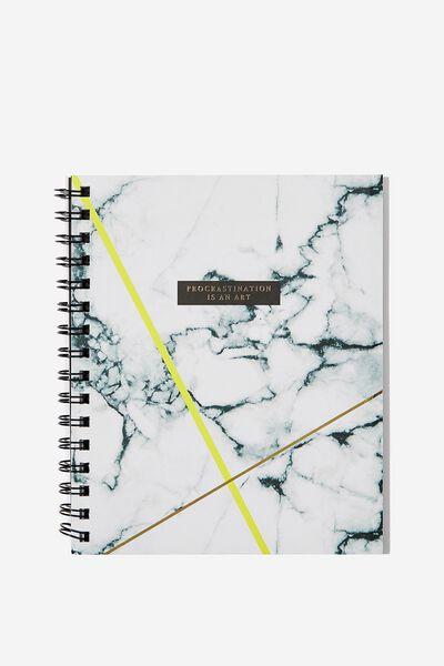 A5 Campus Notebook, MARBLE PROCRASTINATION ART