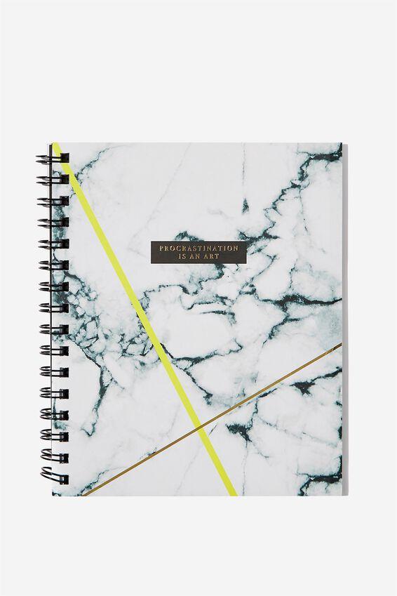 A5 Campus Notebook - Rec, MARBLE PROCRASTINATION ART