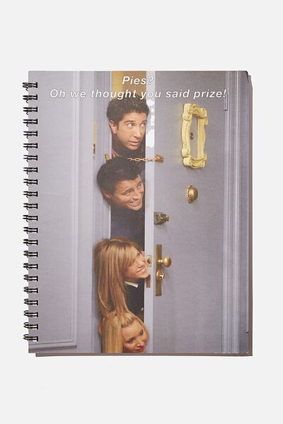A4 Campus Notebook Recycled, LCN WB FRIENDS DOOR