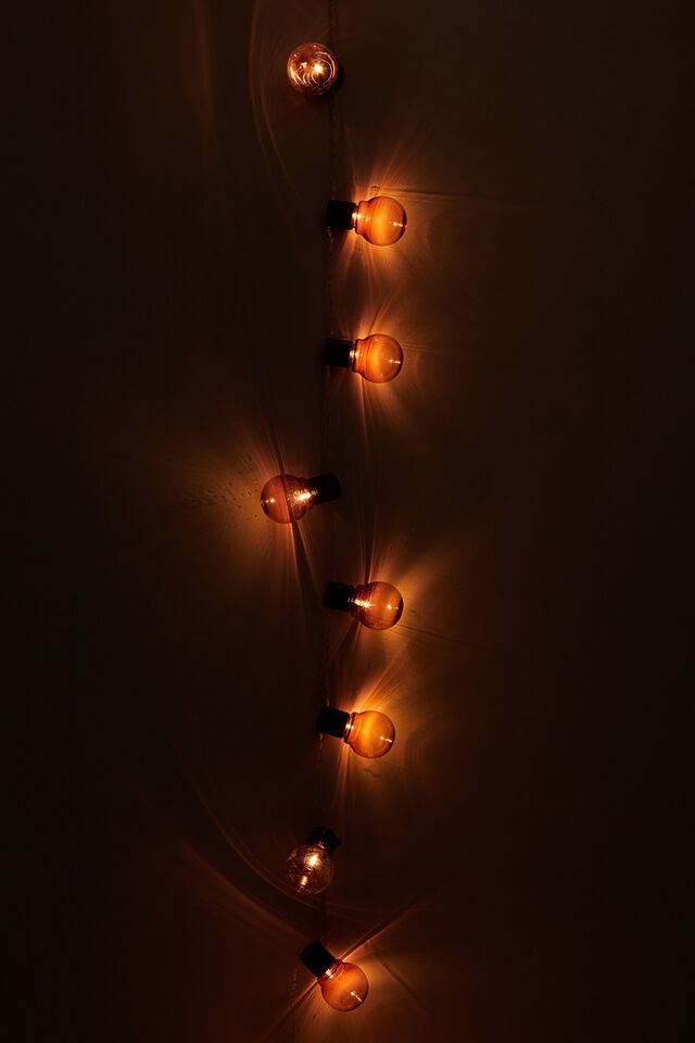 Usb Festoon String Lights, PINK BULBS