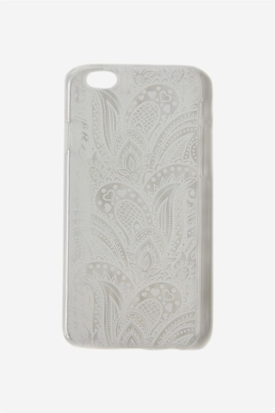 Transparent Phone Cover 6, WHITE LACE