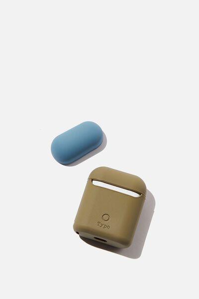 Ear Pod Sleeve, KHAKI & PETROL BLUE