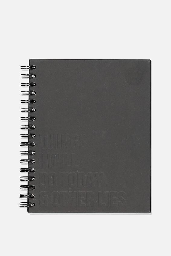 Ultimate Spiral Notebook, BLACK CRAFT