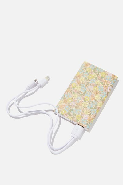 Printed Charge It Charger, DITSY FLORAL SAND