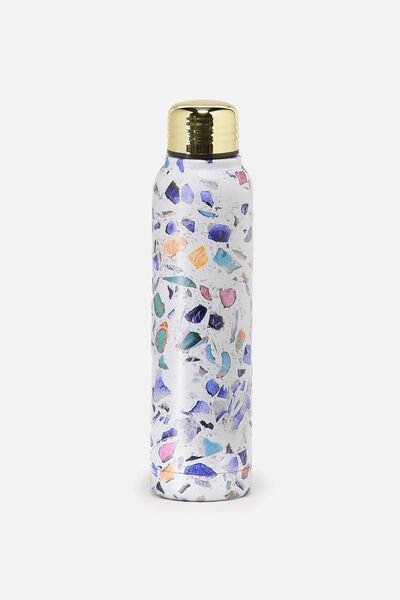 Small Metal Drink Bottle, TERRAZZO