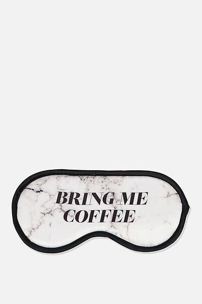 Premium Sleep Eye Mask, WHITE MARBLE COFFEE