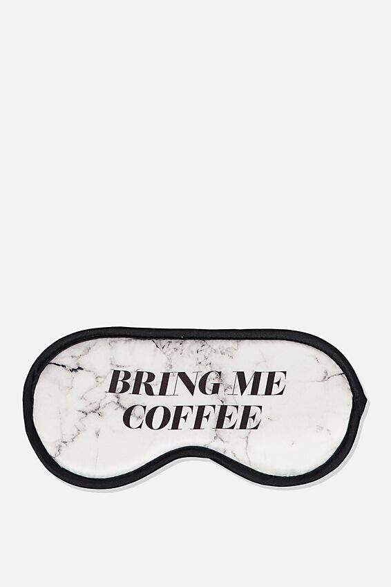 Premium Sleep Eye Mask, WHITE MARBLE COFFEE