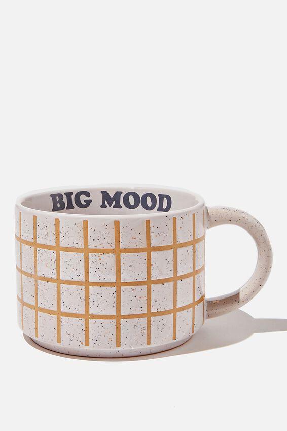 Big Hit Mug, WHITE GRID