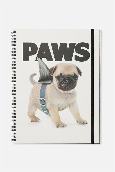 A4 Spinout Notebook - 120 Pages, PAWS