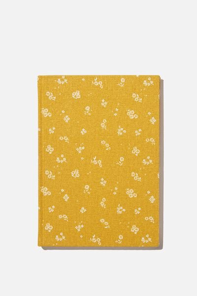 2021 A5 Oxford Weekly Diary, DOTTIE FLORAL MUSTARD