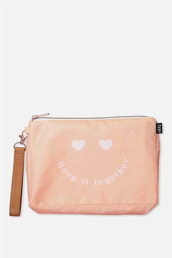 3 Pc Travel Organizer Bags, CORAL HEART