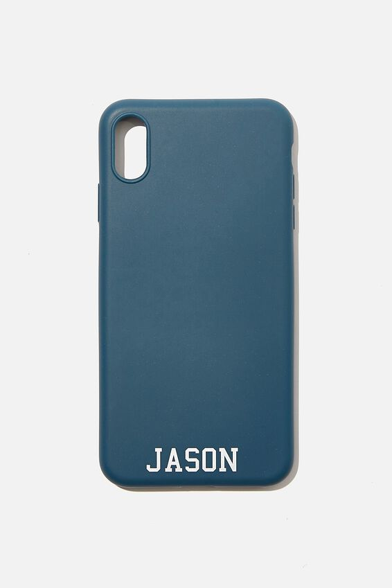 Personalised iPhone X Max Case, DEEP TEAL