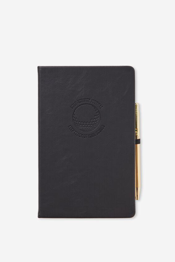 Boxed A5 Premium Activity Journal, BLACK GOLF