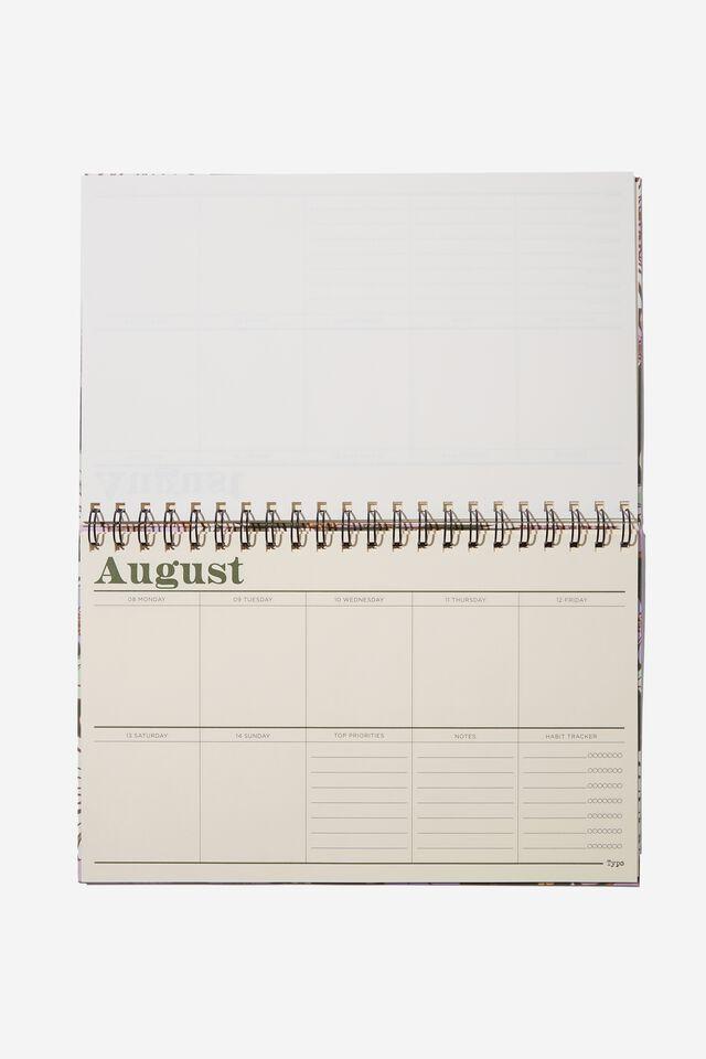 2022 Wide Desk Calendar, SUNNIE FLORAL