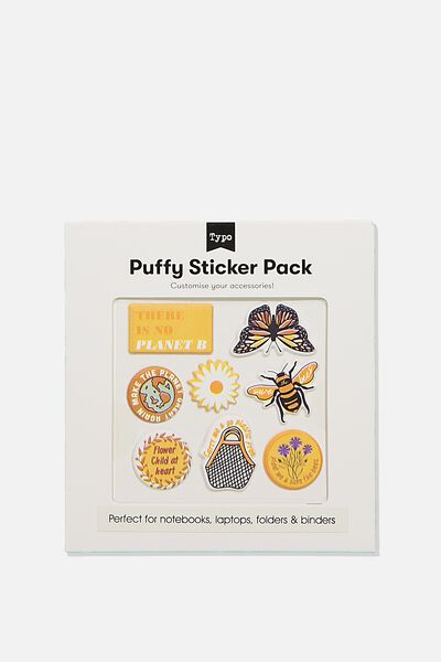 Puffy Sticker Pack, THERE IS NO PLANET B