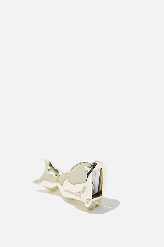 Resin Pencil Sharpener, GOLD CAT