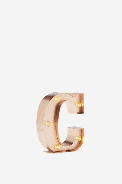Mini Marquee Letter Lights 10cm, ROSE GOLD C
