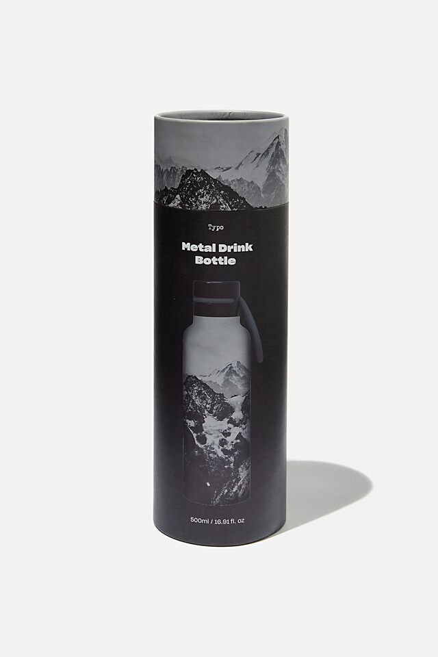Boxed Metal Drink Bottle, MOUNTAINS