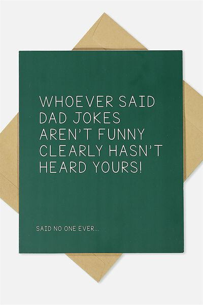 Fathers Day Card, DAD JOKES
