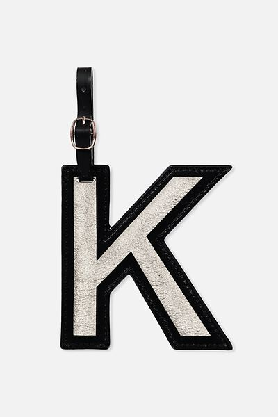 Shaped Alpha Bag Tag, K