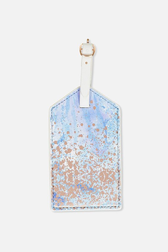 Bag Tag, BLUE MARBLE