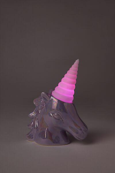 Mini Ceramic Novelty Light, UNICORN LILAC