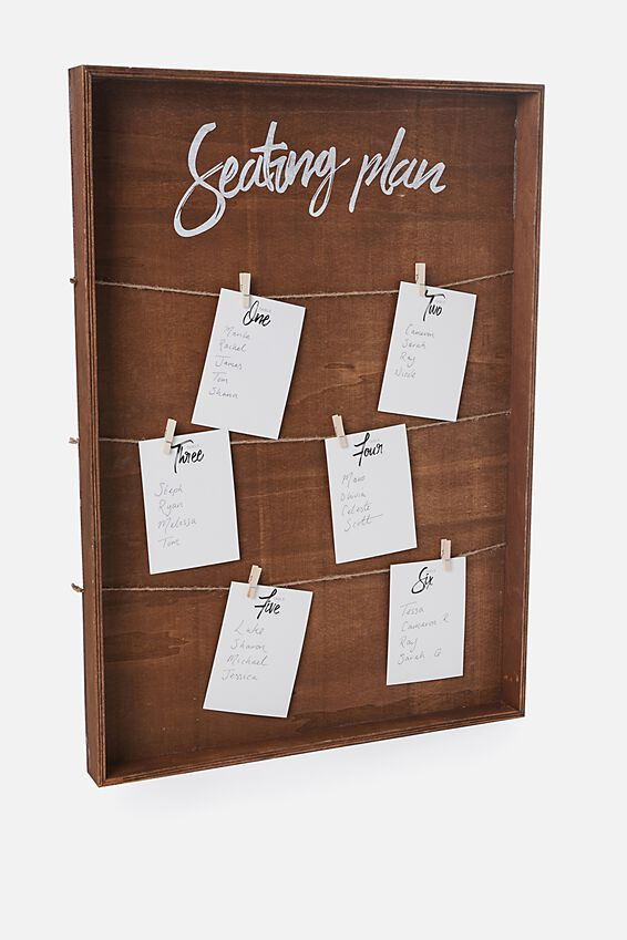 Table Planner, NATURAL DARK TIMBER