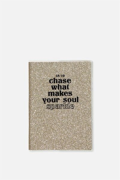 2018 19 A6 Pvc Diary, CHASE WHAT MAKES YOU SPARKLE