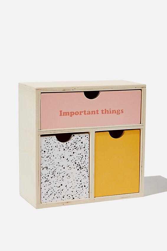 Mini Desk Storage, IMPORTANT THINGS