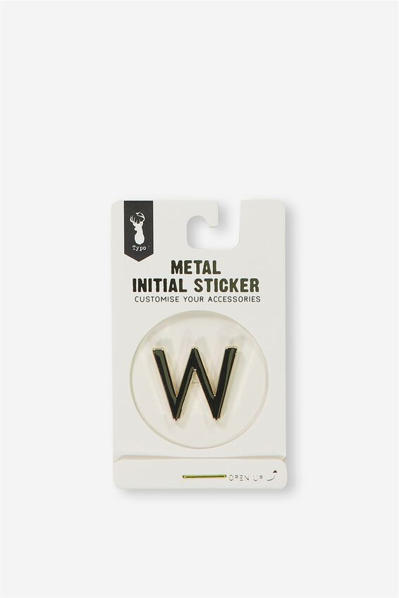 Metal Stickers, GOLD W