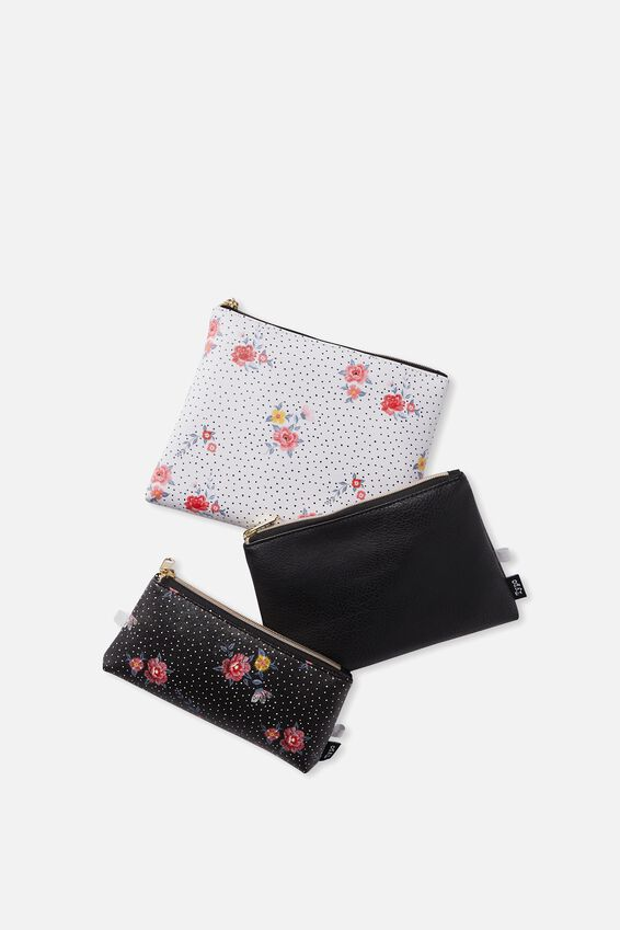Palm Springs Set, BLACK DOTTY FLORAL
