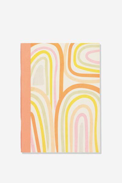 Medium A5 Graduate Blank Notebook, RAINBOW