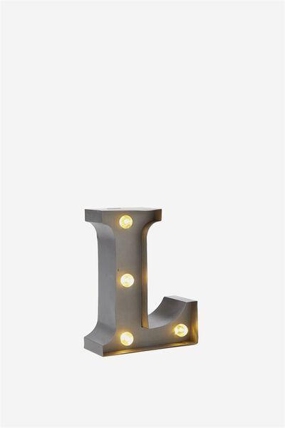 Mini Marquee Letter Lights 3.9inch, SILVER L