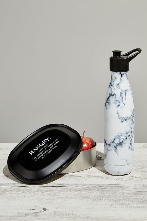 Sip Top Metal Drink Bottle, MARBLE