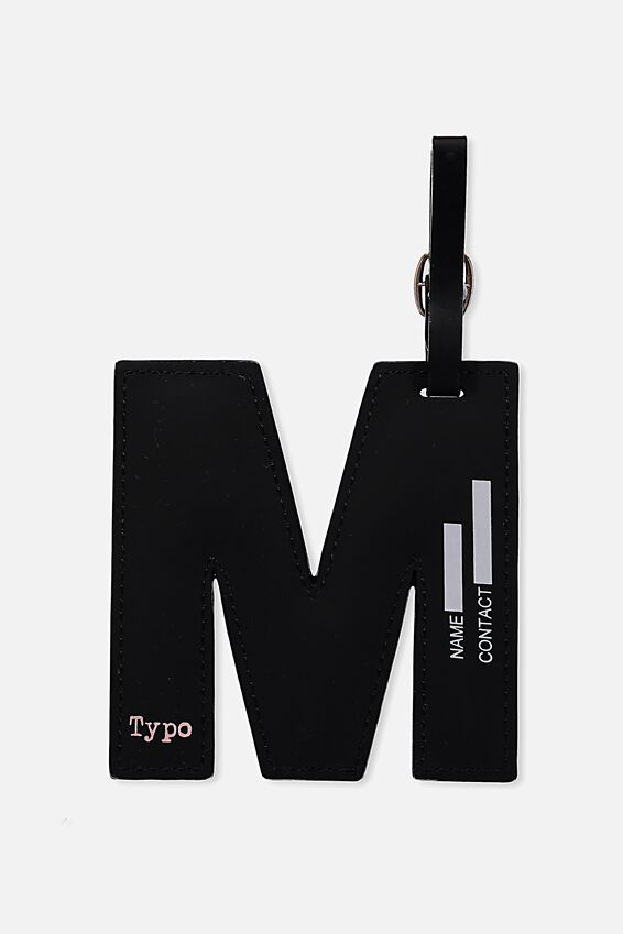 Shaped Alphabet Luggage Tag, M