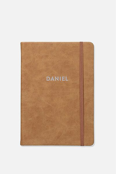 A5 Buffalo Journal Personalised, MID TAN