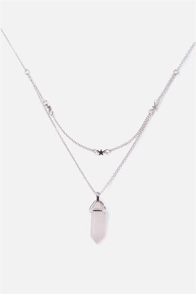 Novelty Necklace, ROSE QUARTZ