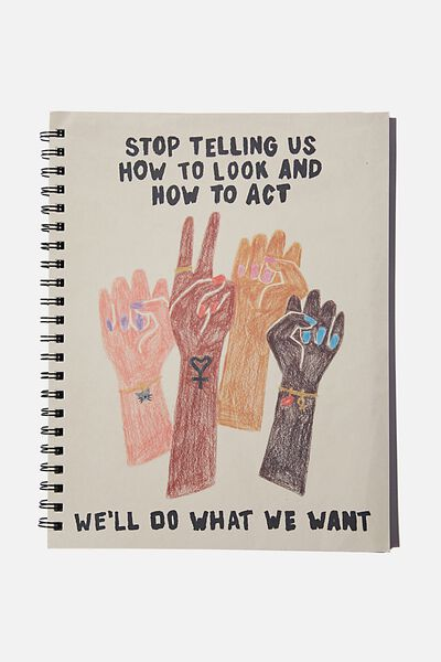 A4 Campus Notebook Recycled, DO WHAT WE WANT