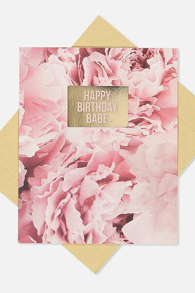 Nice Birthday Card, PEONIES