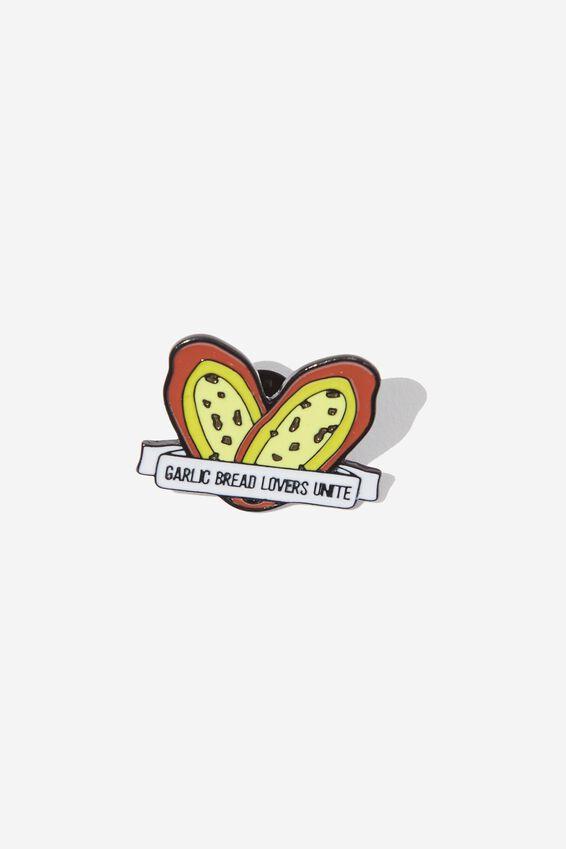 Enamel Badges, GARLIC BREAD LOVERS