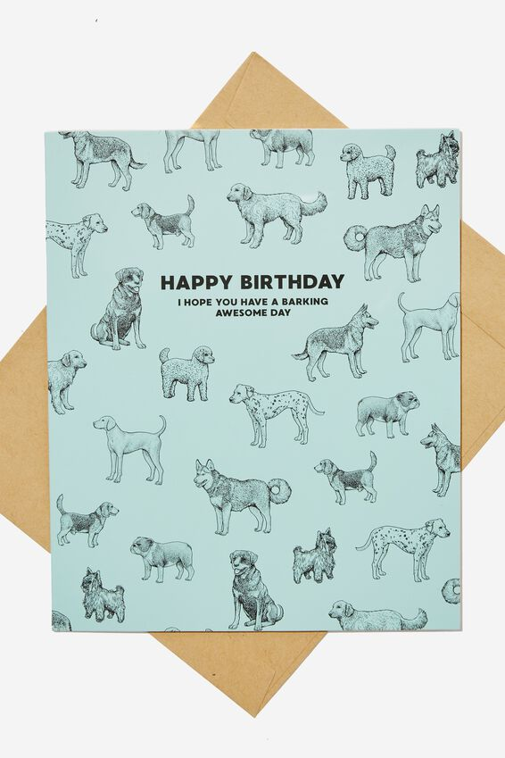 Nice Birthday Card, BARKING BIRTHDAY